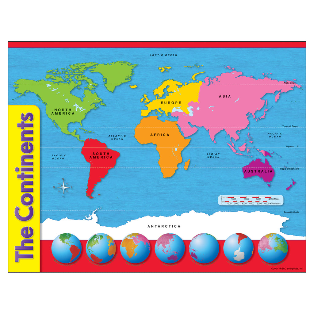 Trend Enterprises The Continents Learning Chart