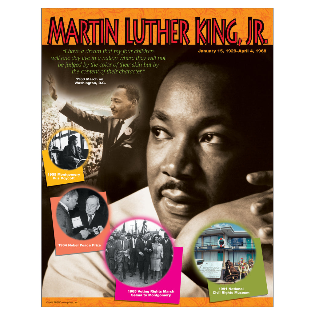 Trend Enterprises Martin Luther King, Jr. Learning Chart