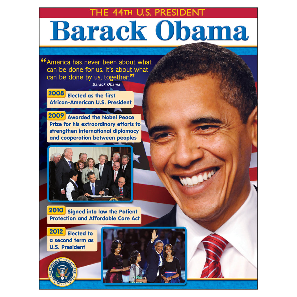 Trend Enterprises President Barack Obama Learning Chart