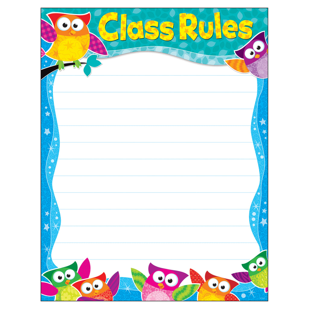 Trend Enterprises Class Rules Owl-Stars!® Learning Chart