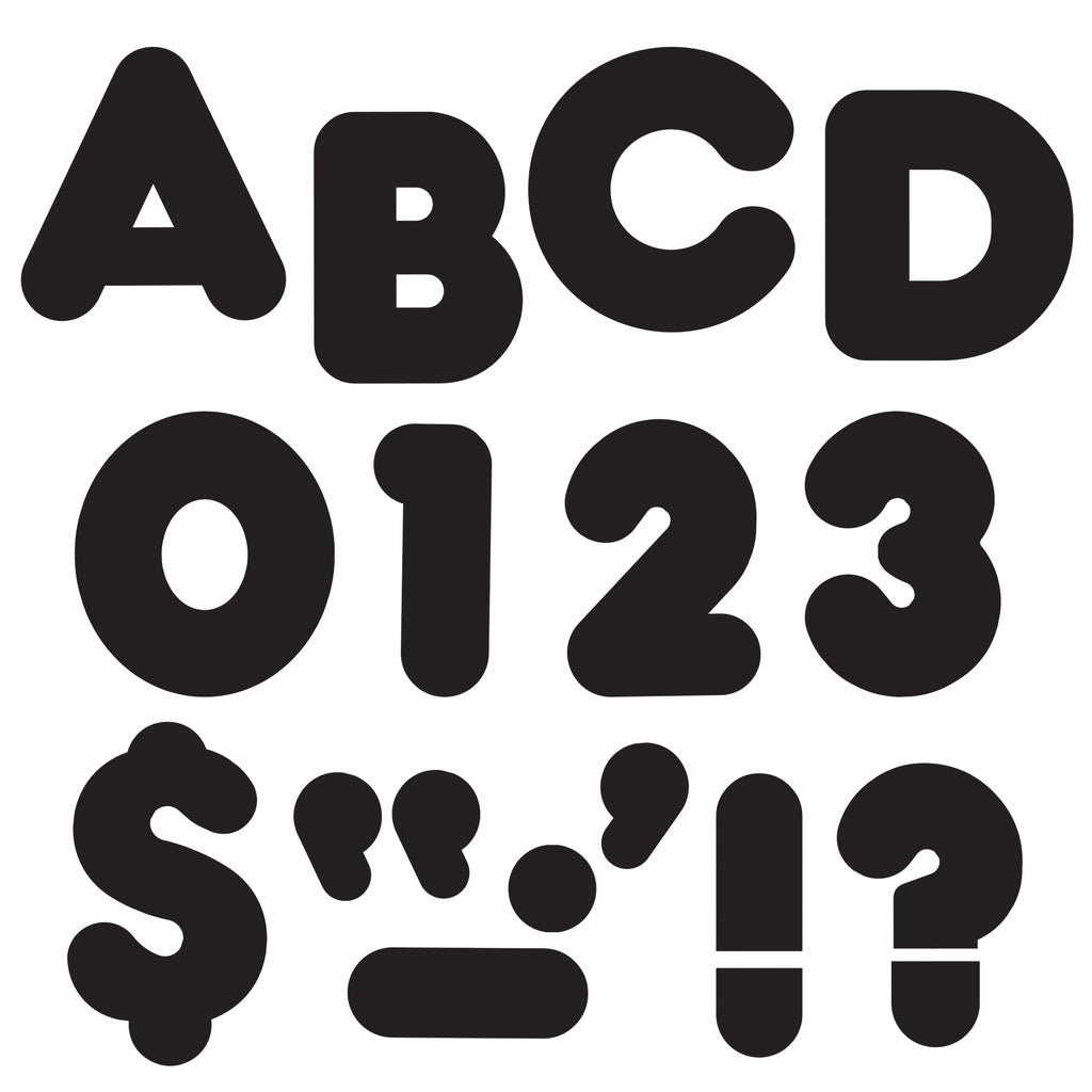 Trend Enterprises Black 2-Inch Casual Uppercase Ready Letters®