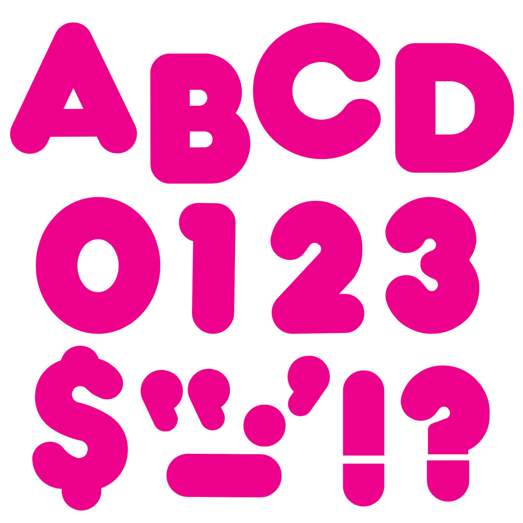 Trend Enterprises Deep Pink 2-Inch Casual Uppercase Ready Letters®