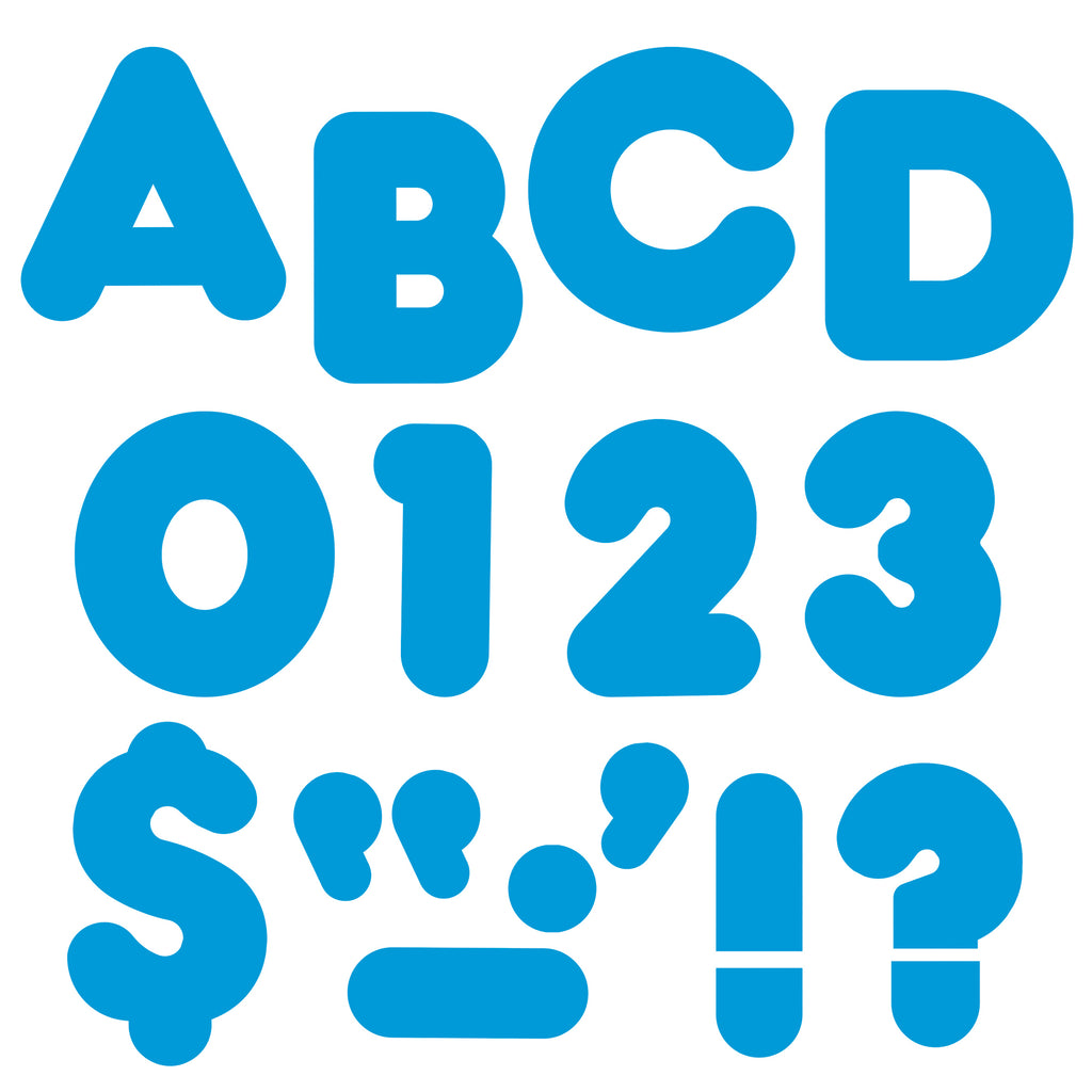 Trend Enterprises Blue 4-Inch Casual Uppercase Ready Letters®