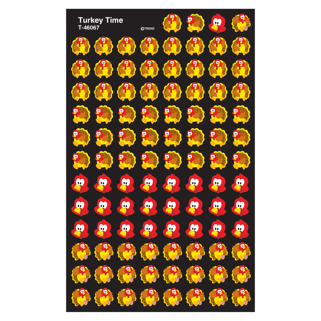 Trend Enterprises Turkey Time superShapes Stickers