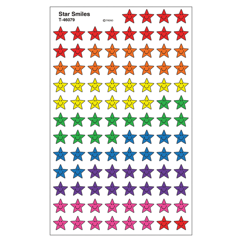 Trend Enterprises Star Smiles superShapes Stickers