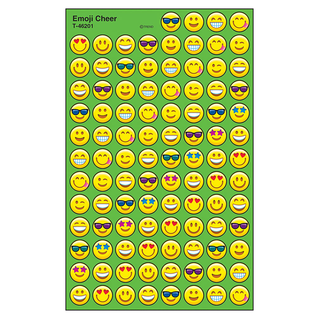 Trend Enterprises Emoji Cheer superSpots® Stickers