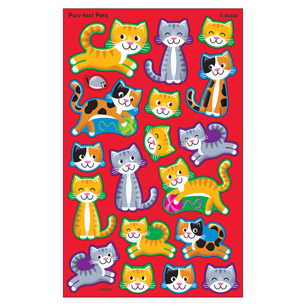 Trend Enterprises Purr-fect Pets superShapes Stickers – Large