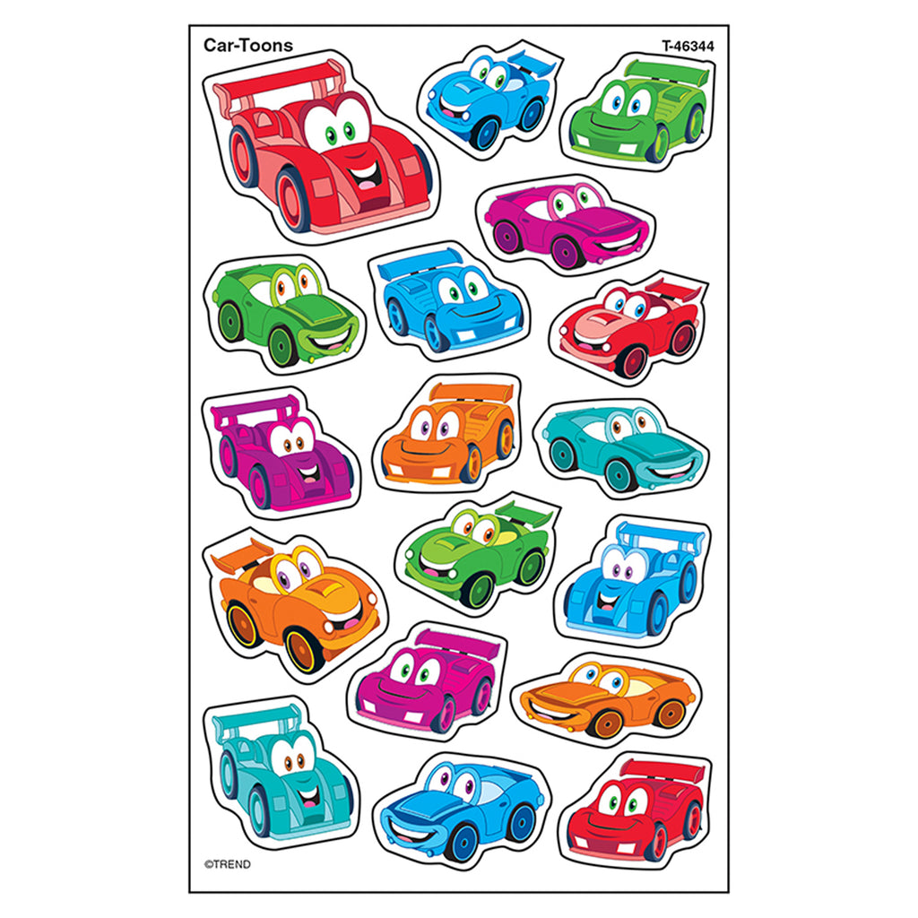 Trend Enterprises Car-Toons superShapes Stickers – Large