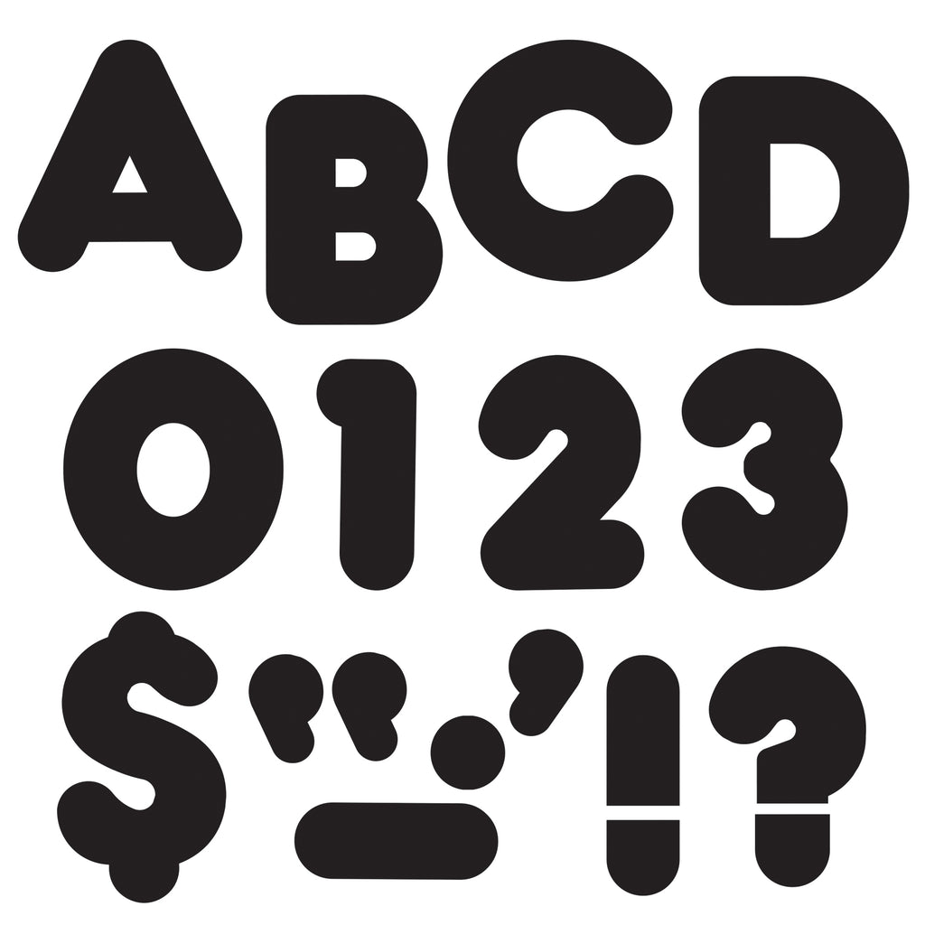 Trend Enterprises Black 4-Inch Casual Uppercase Ready Letters®