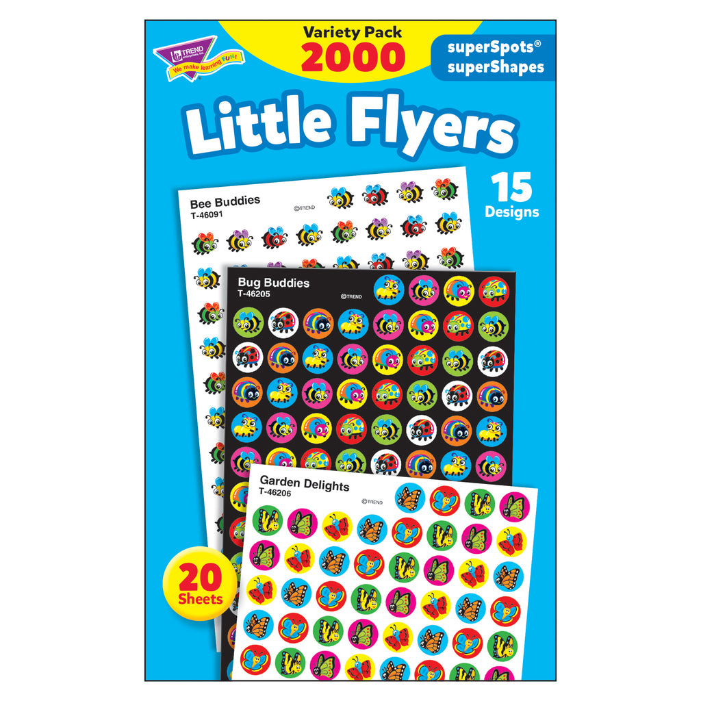 Trend Enterprises Little Flyers superSpots® and superShapes Stickers Variety Pack