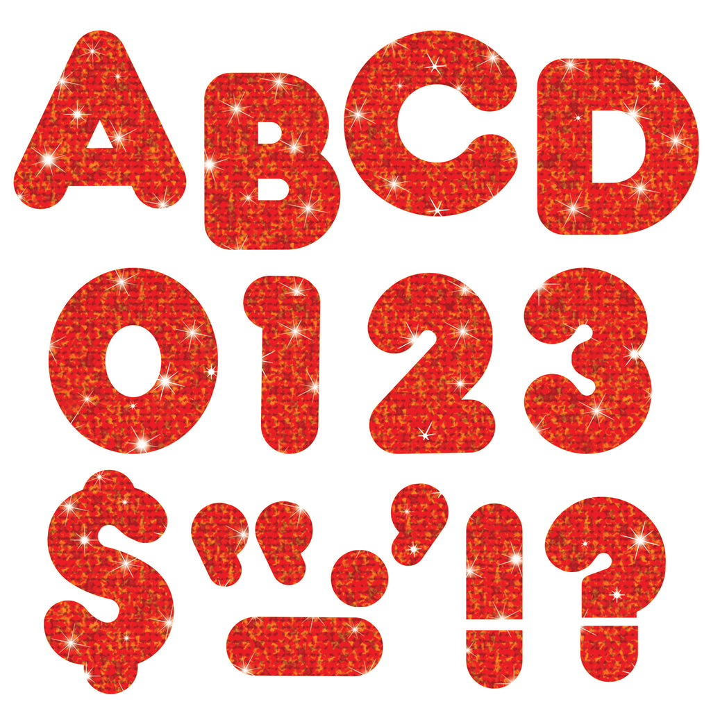 Trend Enterprises Red Sparkle 2-Inch Casual Uppercase Ready Letters®
