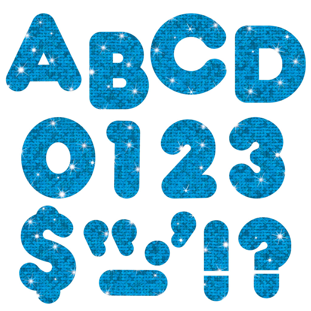 Trend Enterprises Blue Sparkle 2-Inch Casual Uppercase Ready Letters®