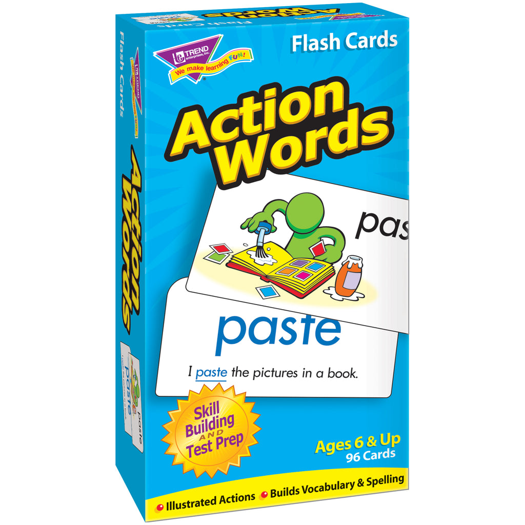 Trend Enterprises Action Words Skill Drill Flash Cards