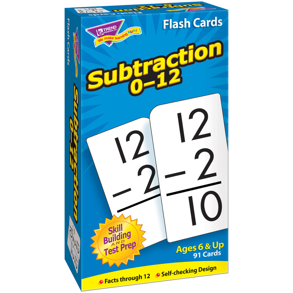 Trend Enterprises Subtraction 0-12 Skill Drill Flash Cards