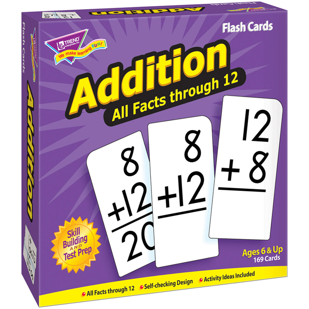 Trend Enterprises Addition 0-12 (All Facts) Skill Drill Flash Cards