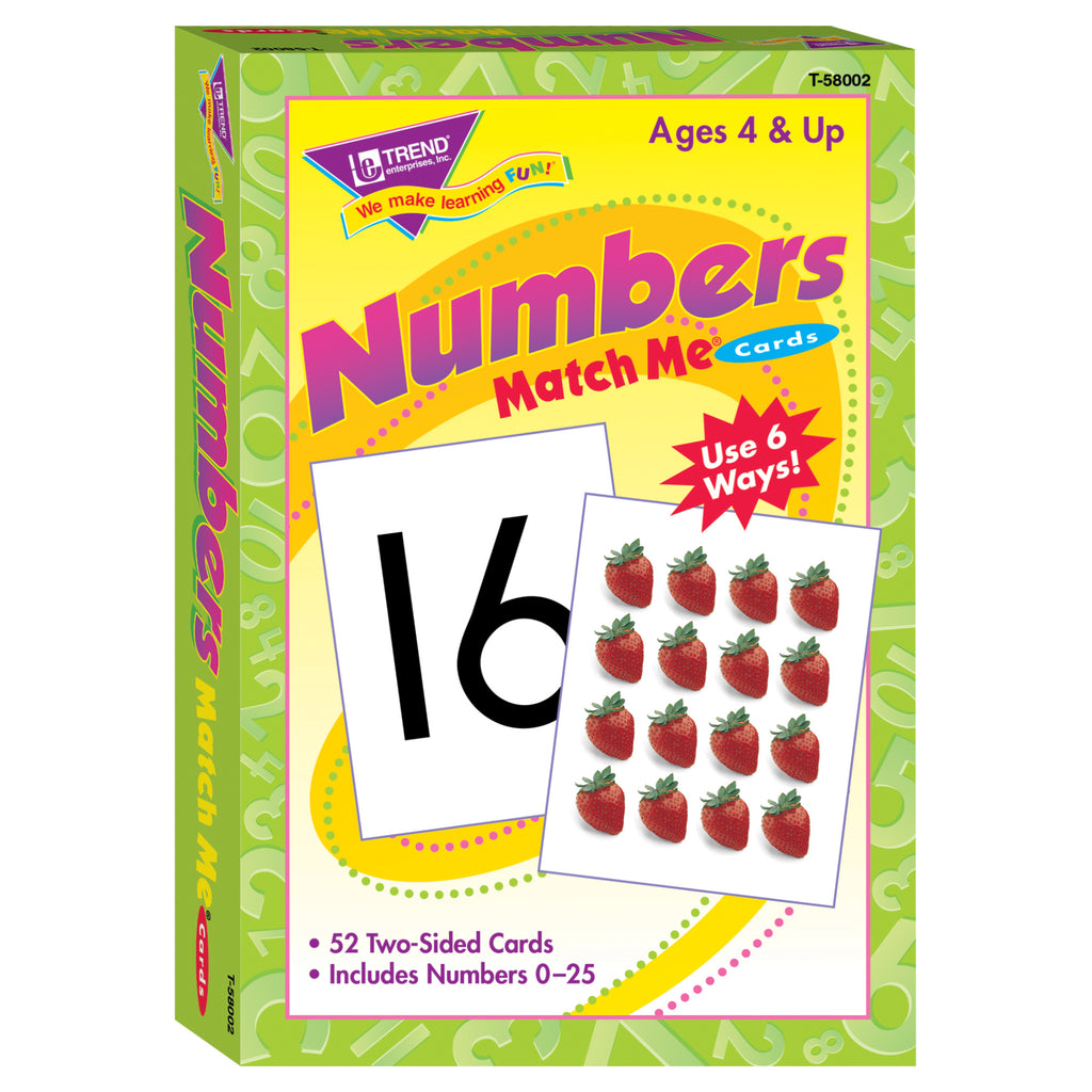 Trend Enterprises Numbers 0-25 Match Me® Cards