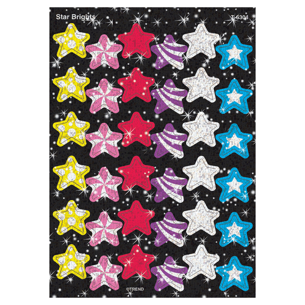 Trend Enterprises Star Brights Sparkle Stickers®