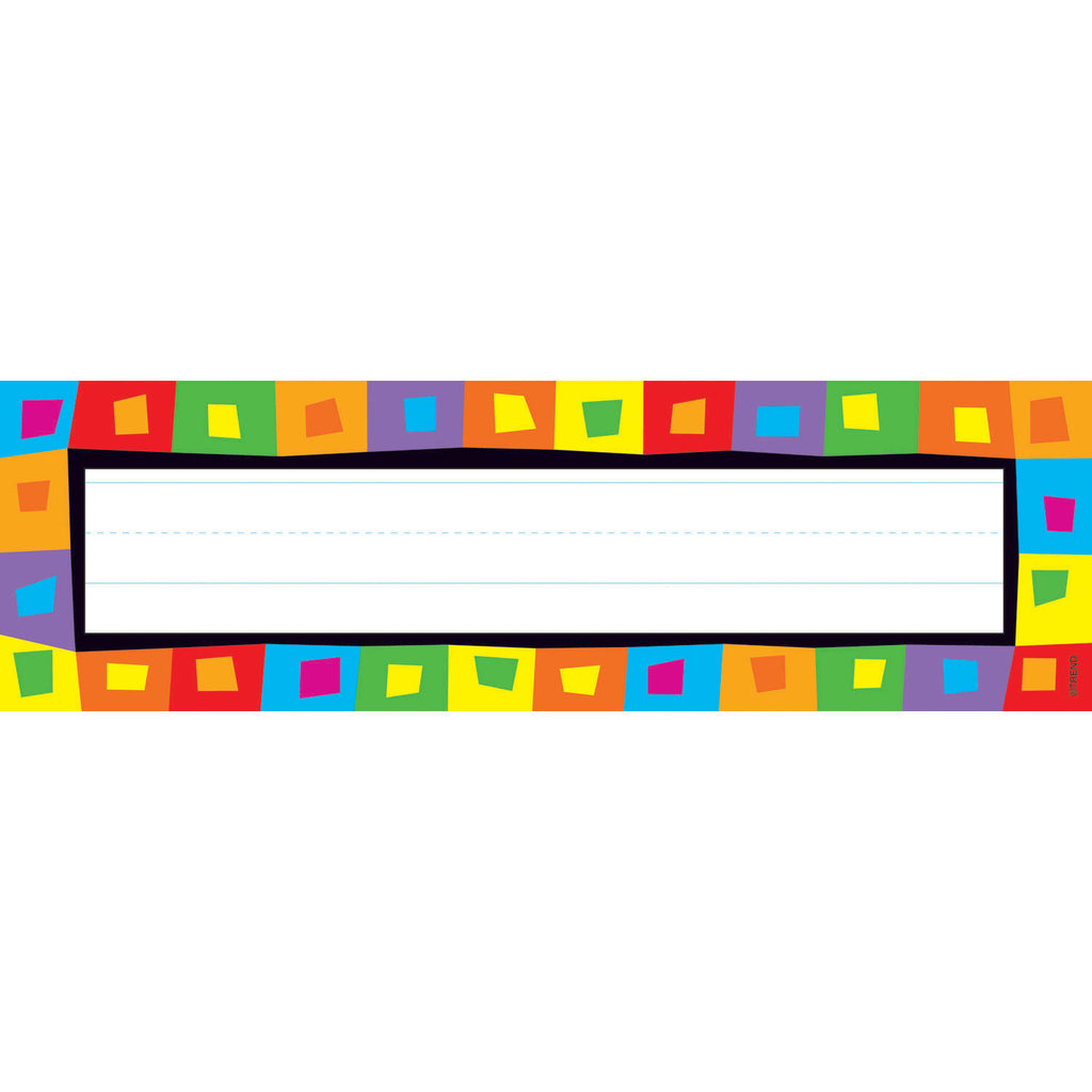 Trend Enterprises Silly Squares Desk Toppers® Name Plates