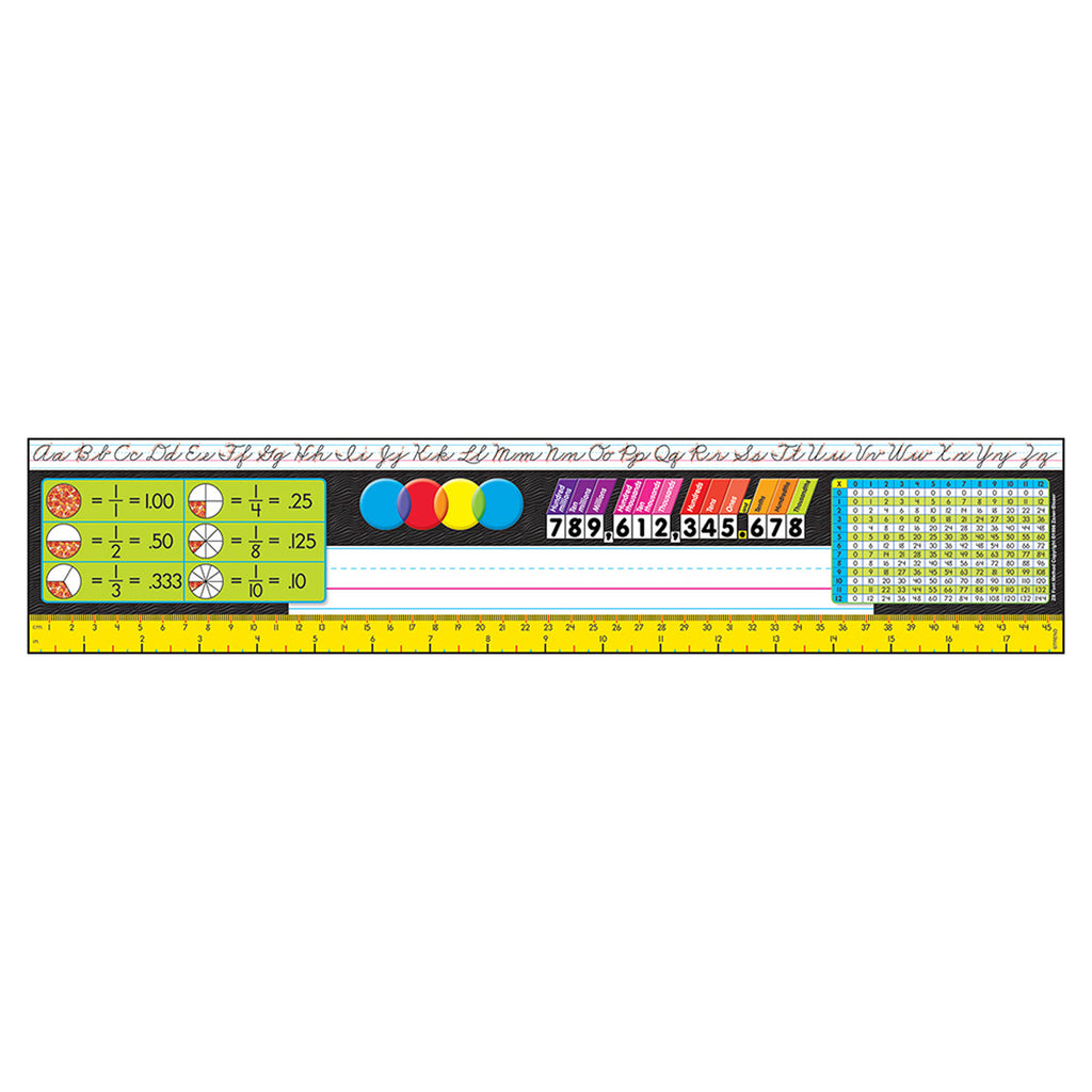 Trend Enterprises Grades 3-5 (Zaner-Bloser) Desk Toppers® Reference Name Plates