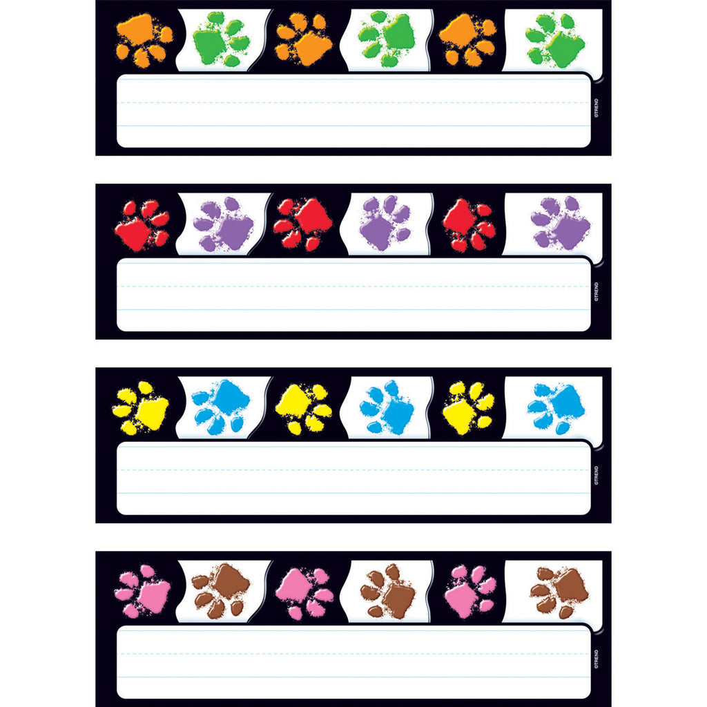 Trend Enterprises Paw Prints Desk Toppers® Name Plates Variety Pack