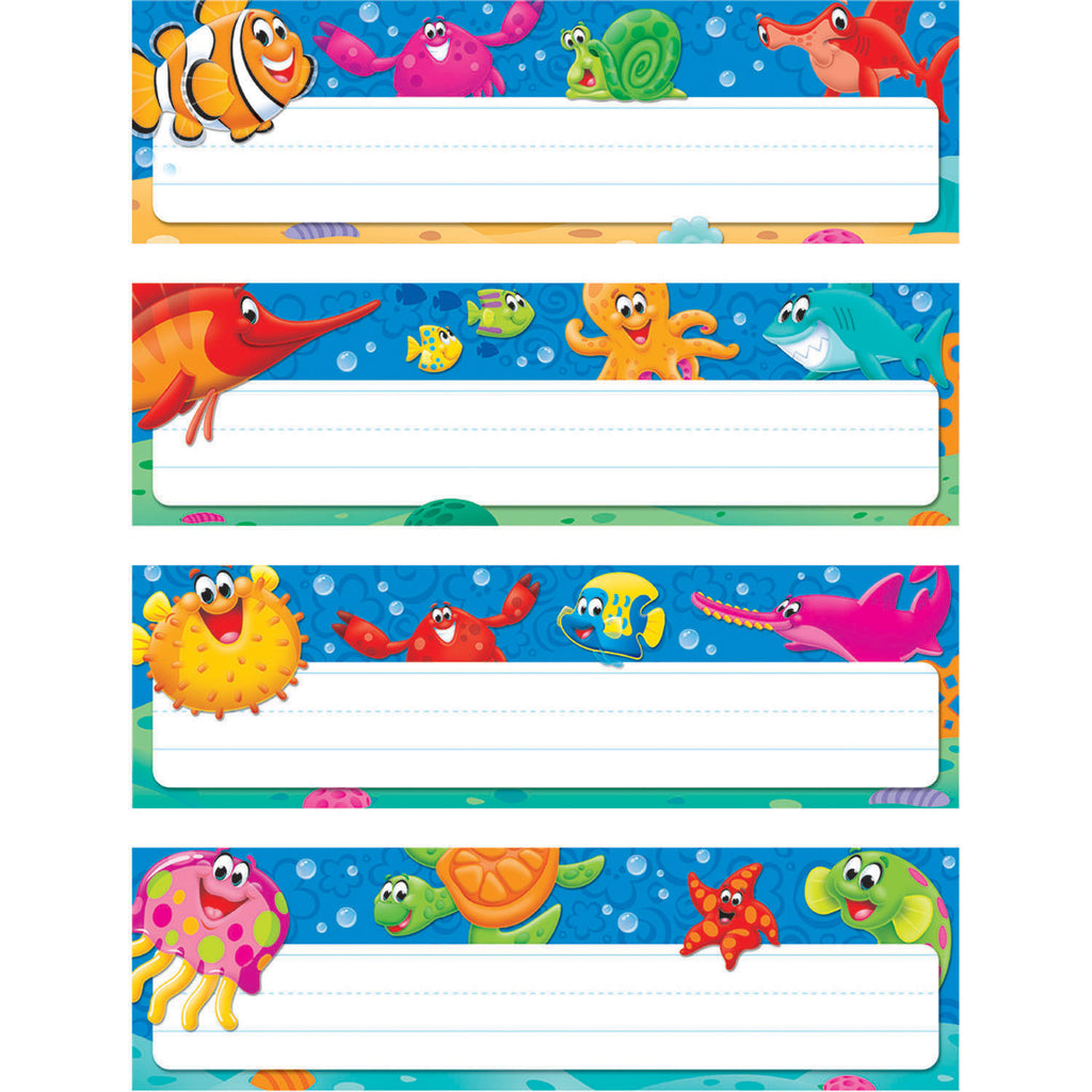 Trend Enterprises Sea Buddies™ Desk Toppers® Name Plates Variety Pack