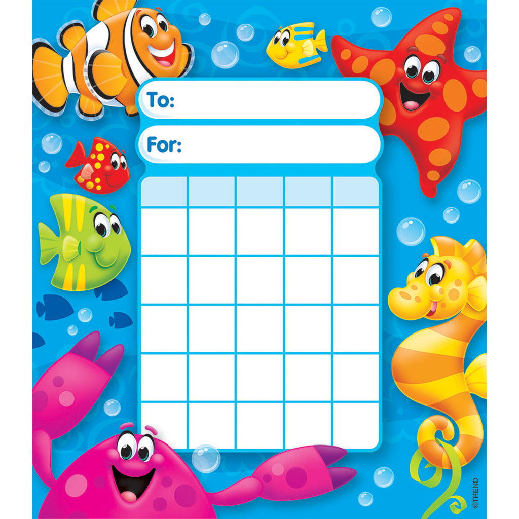 Trend Enterprises Sea Buddies™ Incentive Pad