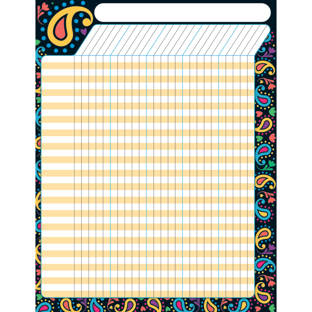 Trend Enterprises Perfectly Paisley Incentive Chart–Large