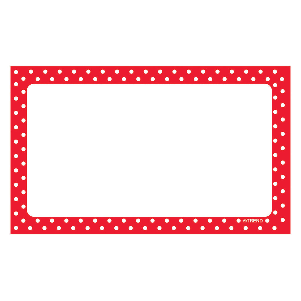 Trend Enterprises Polka Dots Red Blank Terrific Index Cards™