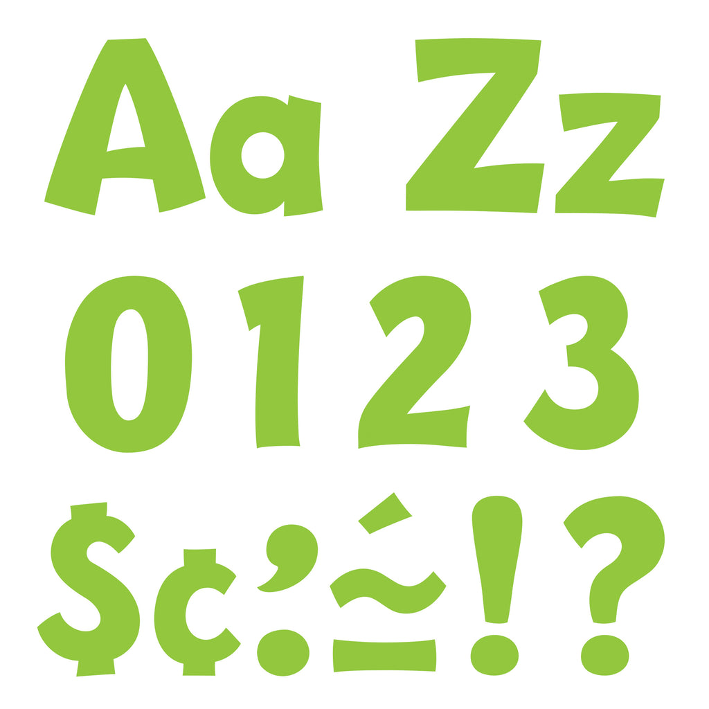 Trend Enterprises Lime 4-Inch Playful Combo Pack Ready Letters®