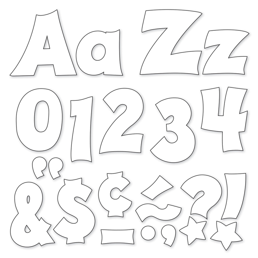 "Trend Enterprises White 4"" Friendly Uppercase/Lowercase Combo Pack Ready Letters®"