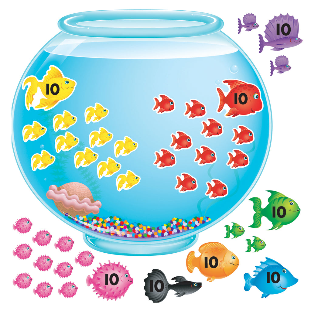 Trend Enterprises 100-Day Fishbowl Bulletin Board Set