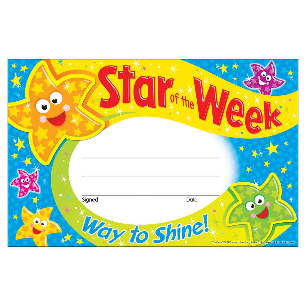 Trend Enterprises Star of the Week—Way to Shine Recognition Awards