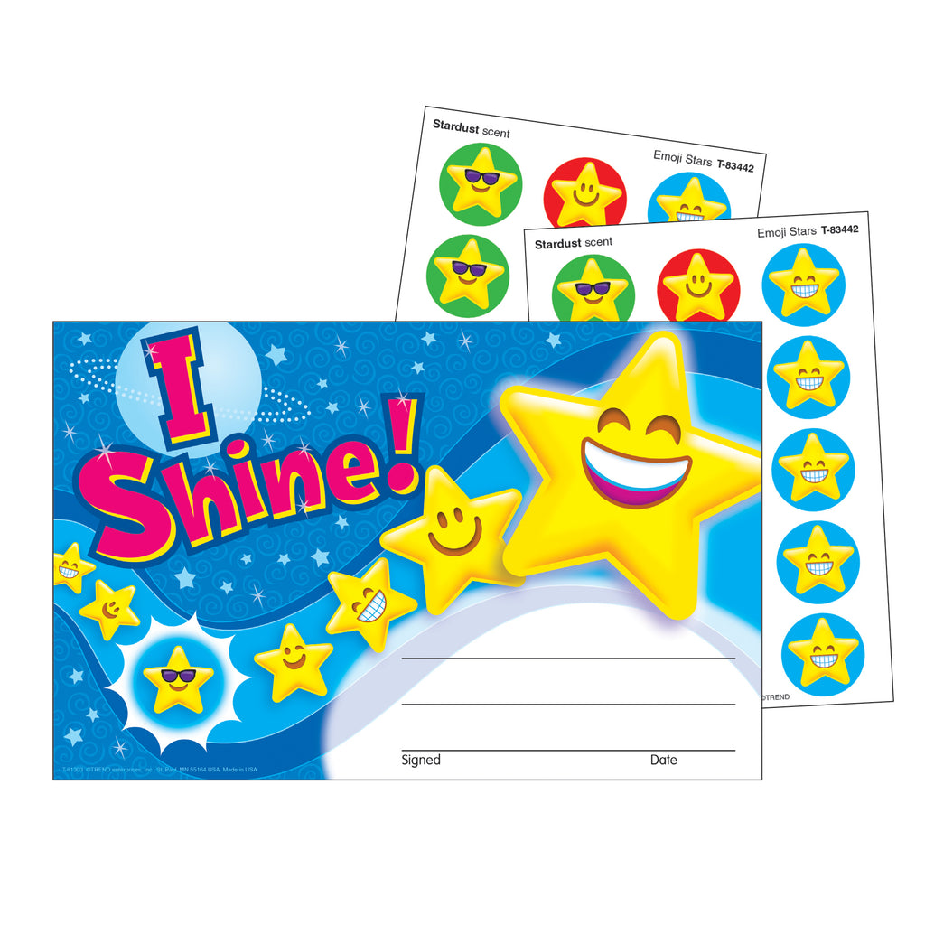 Trend Enterprises I Shine! Emojis Scratch 'n Sniff Recognition Awards
