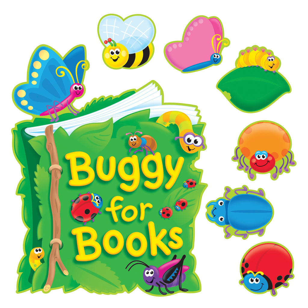 Trend Enterprises Buggy for Books Bulletin Board Set