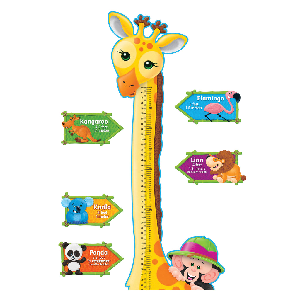 Trend Enterprises Giraffe Growth Chart Bulletin Board Set
