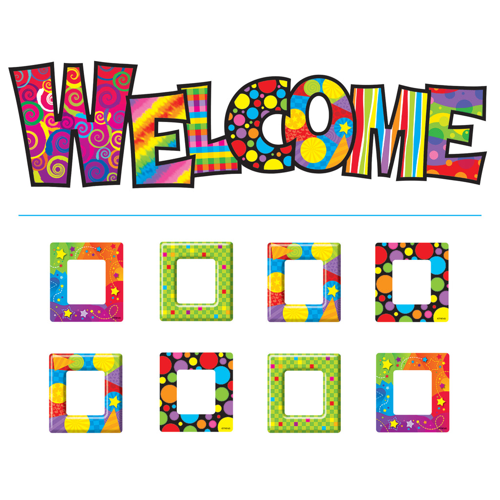 Trend Enterprises Razzle-Dazzle Welcome Bulletin Board Set