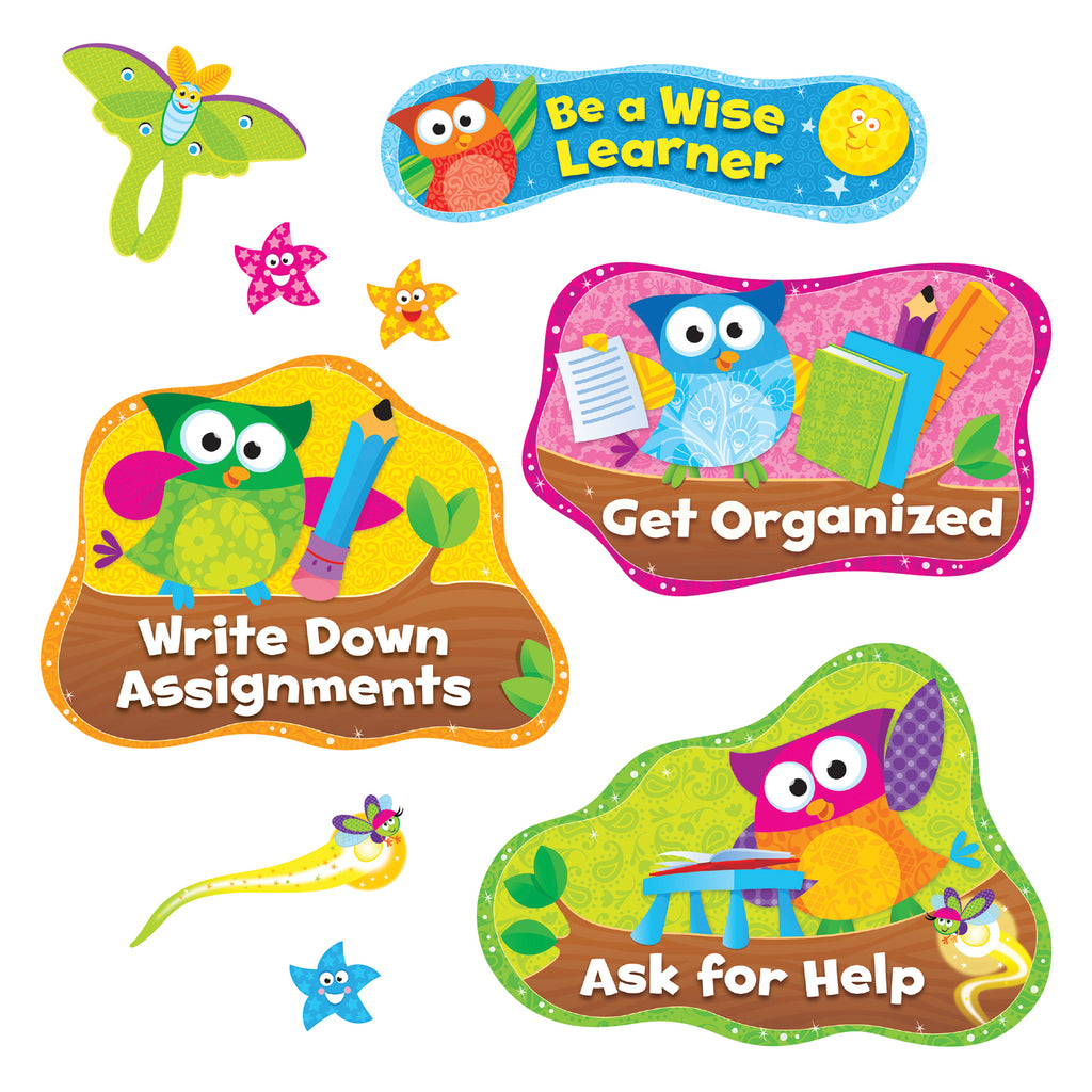 Trend Enterprises Owl-Stars!® Study Habits Bulletin Board Set