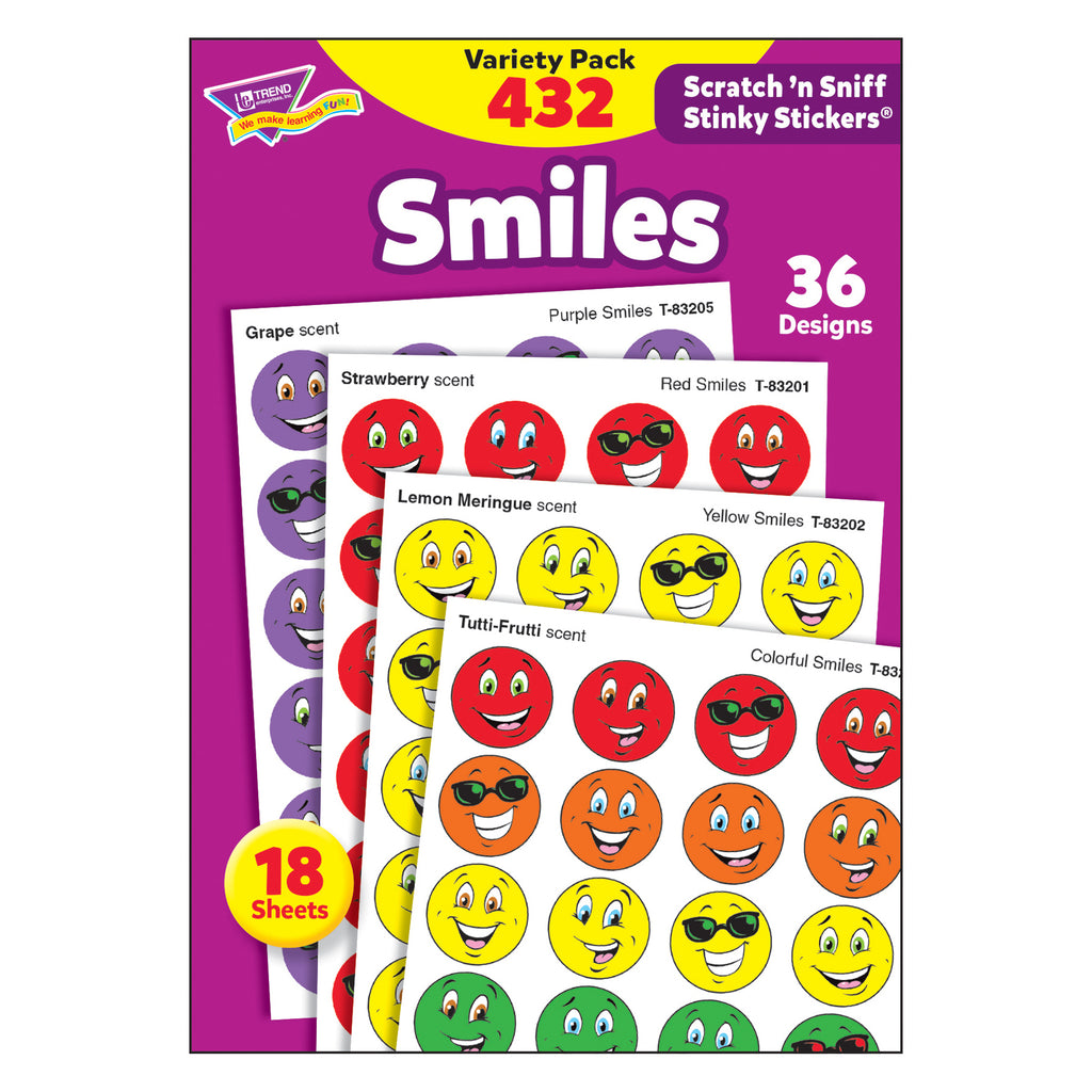 Trend Enterprises Smiles Stinky Stickers® Variety Pack
