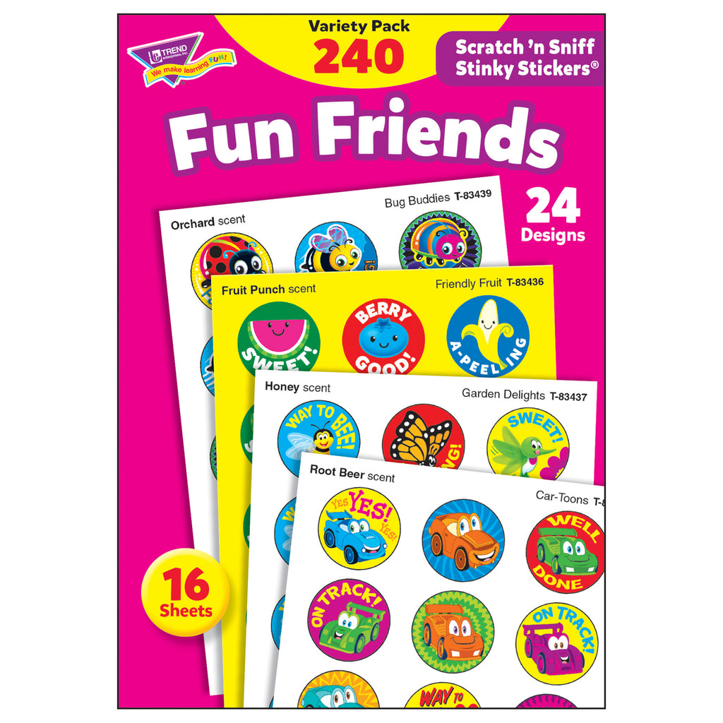 Trend Enterprises Fun Friends Stinky Stickers® Variety Pack