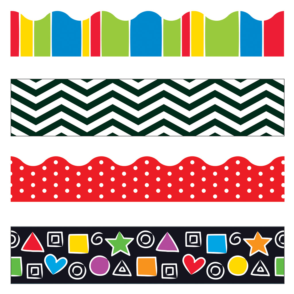 Trend Enterprises Stripes & Shapes Terrific Trimmers® & Bolder Borders® Variety Pack