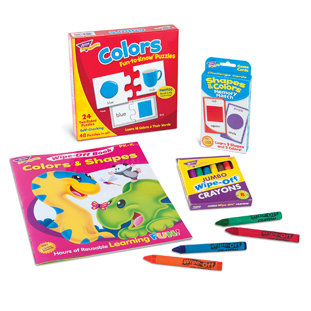 Trend Enterprises Colors & Shapes Learning Fun Pack