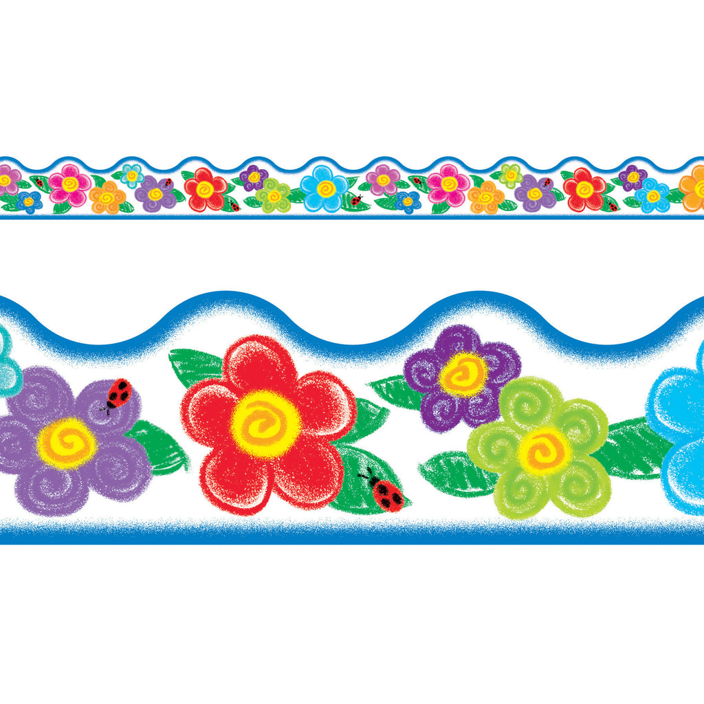 Trend Enterprises Crayon Flowers Terrific Trimmers®