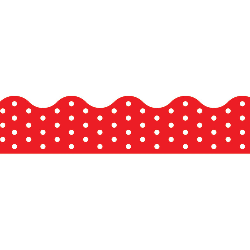 Trend Enterprises Polka Dots Red Terrific Trimmers®