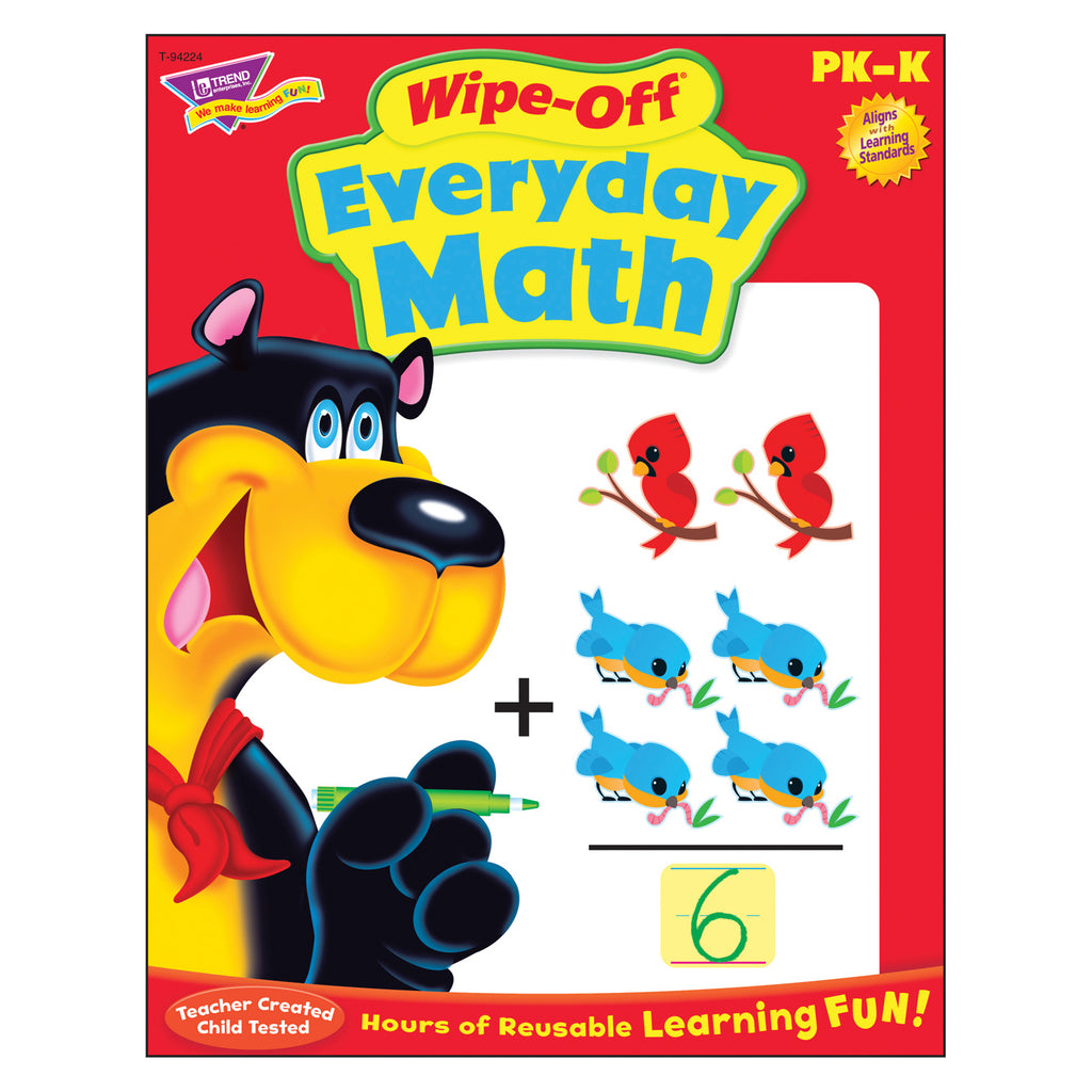 Trend Enterprises Everyday Math Wipe-Off® Book