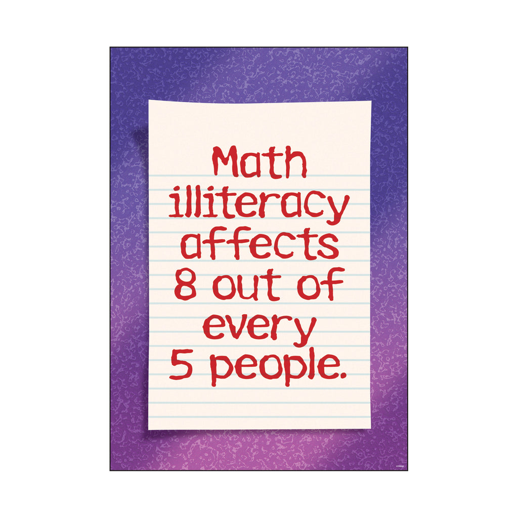 Trend Enterprises Math illiteracy affects… ARGUS® Poster