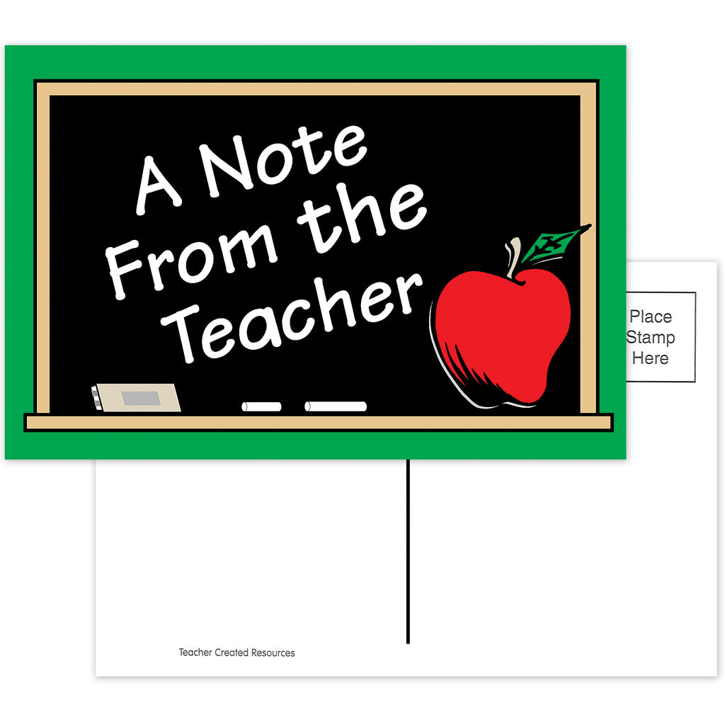 Teacher Created Resources A Note From the Teacher Postcards