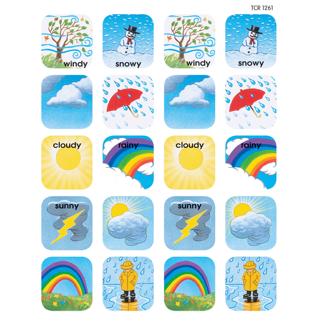 Teacher Created Resources Weather Stickers