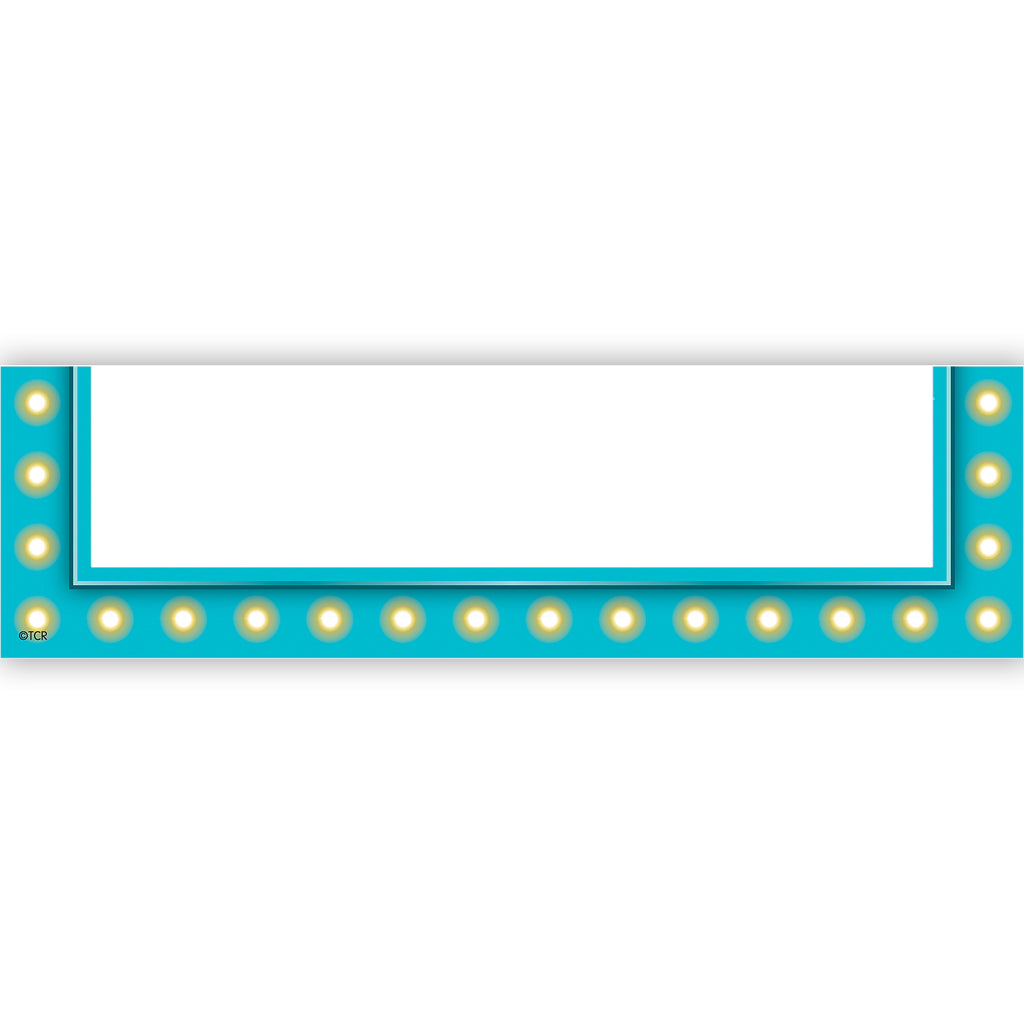 Teacher Created Resources Light Blue Marquee Magnetic Pockets - Small