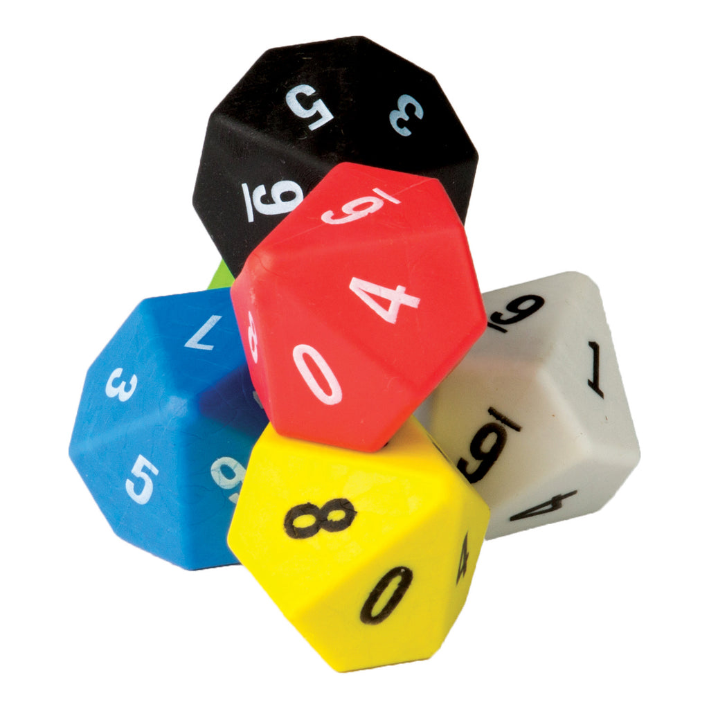 Teacher Created Resources 10 Sided Dice 6-Pack