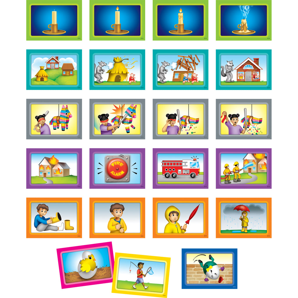 Teacher Created Resources 4-Scene Sequencing Pocket Chart Cards